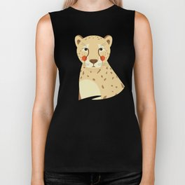Cheetah, Animal Portrait Biker Tank