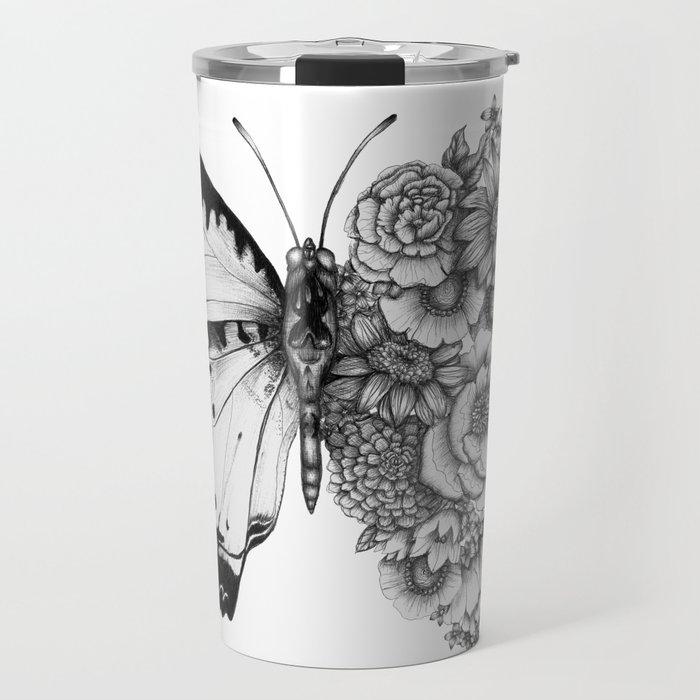 Butterfly in Bloom Travel Mug
