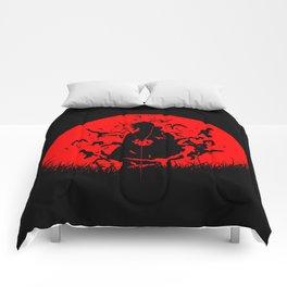 Red Moon Itachi Comforters