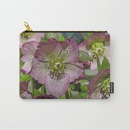 HELLEBORES FLOWERS Carry-All Pouch