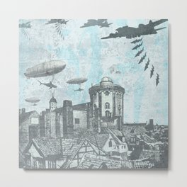 Shark Bomb Metal Print
