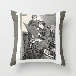 Let's Read Throw Pillow