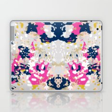 Michel - Abstract, girly, trendy art with pink, navy, blush, mustard for cell phones, dorm decor etc Laptop & iPad Skin