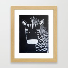No. 0013 - Modern Kids and Nursery Art - The Zebra Framed Art Print