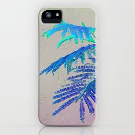 Silk Tree Leaves #8 with Poem: Before iPhone Case