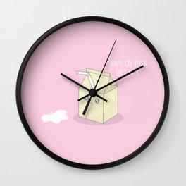Don't Cry Over Spilt Milk #kawaii #milk Wall Clock