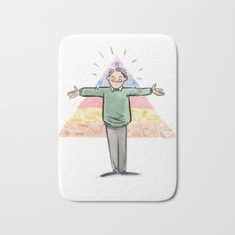 Amazin' Abe Maslow and His Hierarchy of Needs Bath Mat