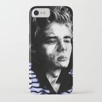 james franco iPhone & iPod Cases featuring James  by Lucy Schmidt Art