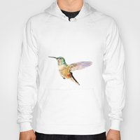 hummingbird Hoodies featuring Hummingbird by coconuttowers