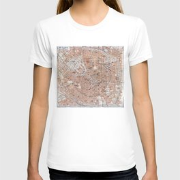 Vintage Map of Milan Italy (1913) T-shirt