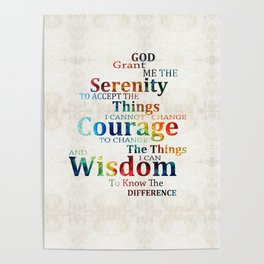 Colorful Serenity Prayer by Sharon Cummings Poster