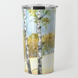 Autumn watercolor landscape Travel Mug