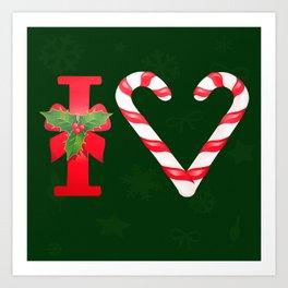 I Love Christmas Art Print
