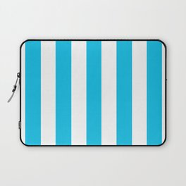 Blue raspberry - solid color - white vertical lines pattern Laptop Sleeve