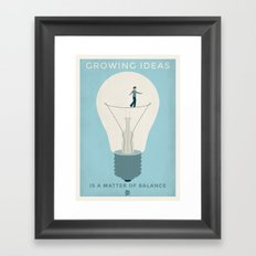 Growing ideas Framed Art Print