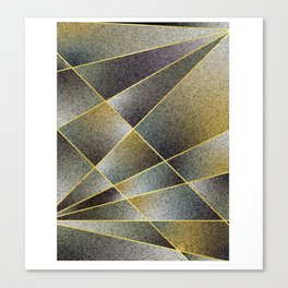 GREY TO YELLOW Canvas Print