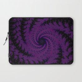 Purple Spiral Fractal Design Laptop Sleeve