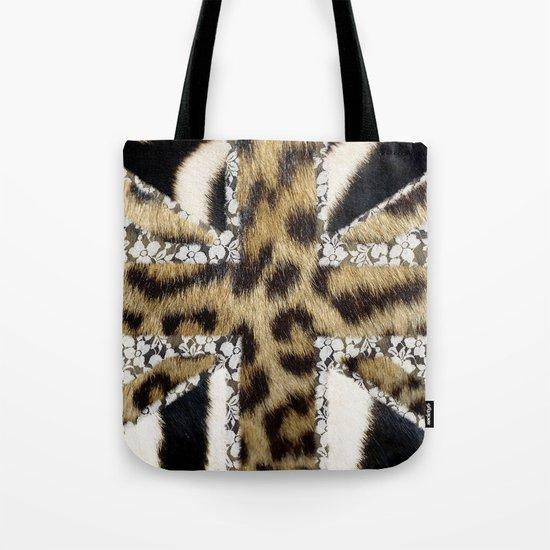 Wild | Hipster leopard Print Zebra UK Union Jack Flag  Tote Bag