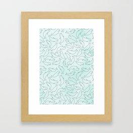 Belugas party Framed Art Print