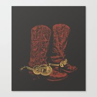 cowboy Canvas Prints featuring COWBOY by GCGC