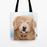 glee Tote Bags featuring Golden Glee by audreys.art