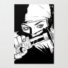 Ninja Girl Canvas Print