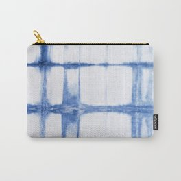 Shibori Blue - Rectangles Carry-All Pouch