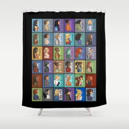 She Series Collage 1-4 Shower Curtain