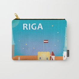 Riga, Latvia - Skyline Illustration by Loose Petals Carry-All Pouch