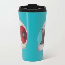 Bell Bullitt Cafe Racer Helmet Polygon Art Travel Mug