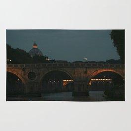 Bridges of Rome in the Evening Rug