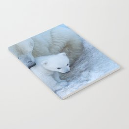 Polar Bear Mother and Cub portrait. Notebook