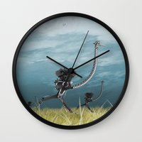runner Wall Clocks featuring Runner by Tony Vazquez