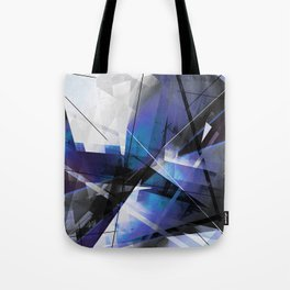 Divided by Glass - Geometic Abstract Art Tote Bag