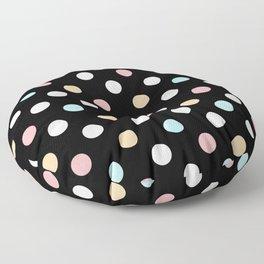 Black & Pastel Dots Floor Pillow