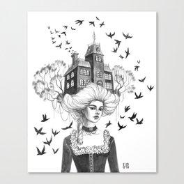 Chimney Swifts Canvas Print