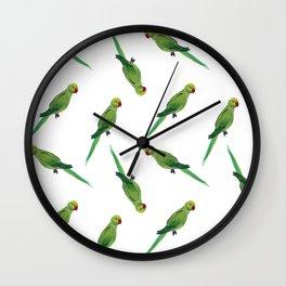 Indian Parrot Wall Clock