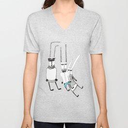 Fashion rabbit Unisex V-Neck