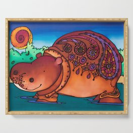 A Huggable Hippo: Ruby Serving Tray