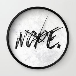 NOPE Marble Quote Wall Clock