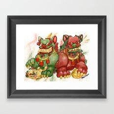 Happy Happy Foo Foo Framed Art Print