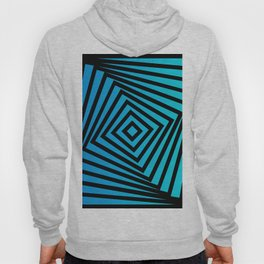 Squares twirling from the Center. Optical Illusion of Perspective bu Squares twirling Hoody