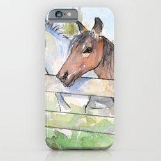 Horses Watercolor Sketch Barn Animals Horse Slim Case iPhone 6s