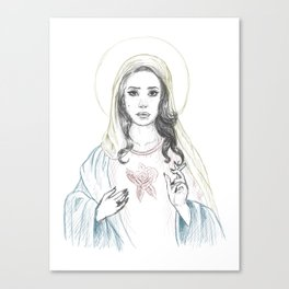 Mary Del Rey Canvas Print