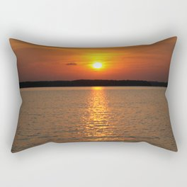 Sundown on the Lake Rectangular Pillow