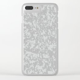 Zinc Plate Background Clear iPhone Case
