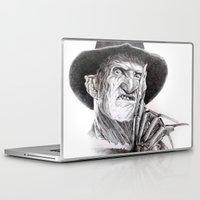 freddy krueger Laptop & iPad Skins featuring Freddy krueger nightmare on elm street by calibos