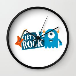 Let's Rock II Wall Clock
