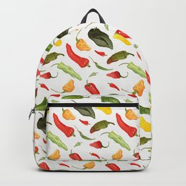Watercolor Hot Peppers Backpack