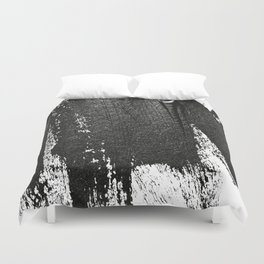 CONFIDENT - black , with no background Duvet Cover